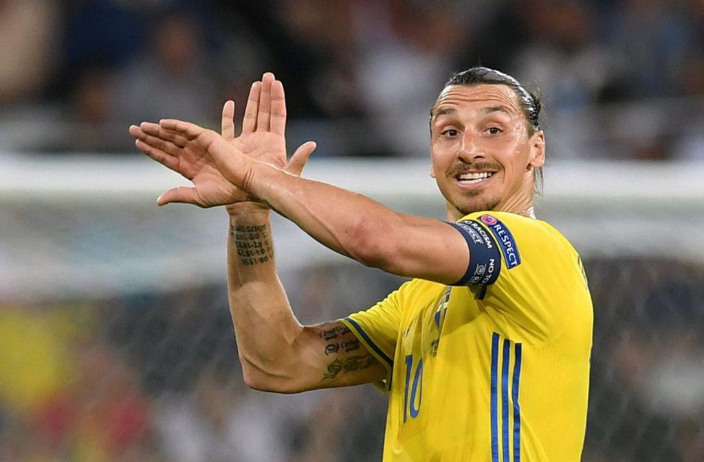 Schwedens Nationalheld Zlatan Ibrahimovic machte mit seinem Tweet viele Kinder glücklich. Foto: dpa/Peter Powell