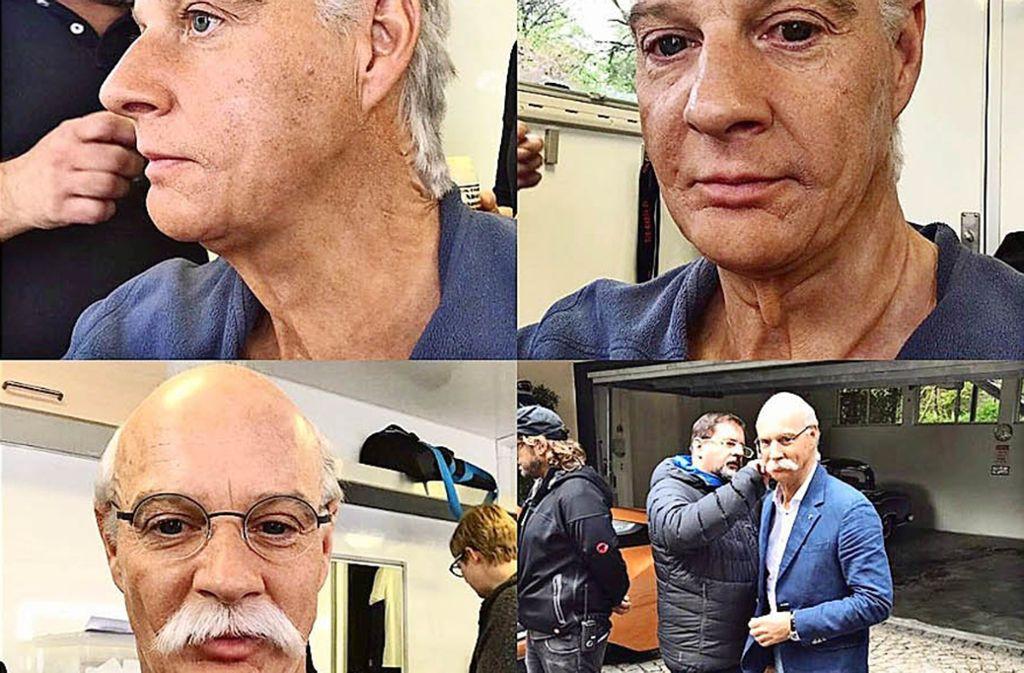 """Der Schauspieler Simon Licht ( """"Dr. Klein"""", """"Laible und Frisch"""") wird zu Dieter Zetsche Foto: Instagram/Licht"""