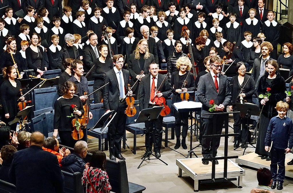 StuttgarterHymnus-Chorknaben  mit Solisten im März dieses Jahres in der Stiftskirche Foto: Farnung