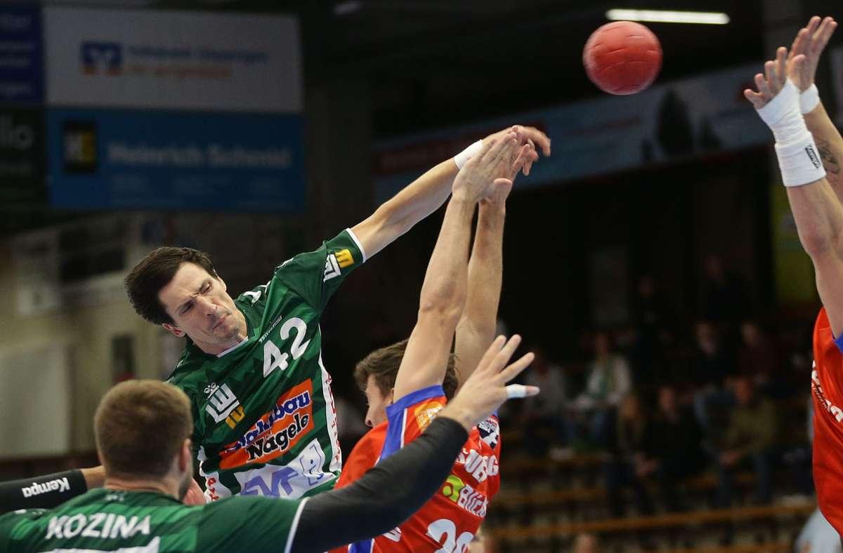 Mit sechs Toren bester Frisch-Auf-Werfer: Linkshänder Nemanja Zelenovic. Foto: Baumann