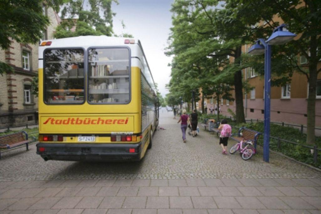Büchereibus im Nordbahnhofviertel Foto: Achim Zweygarth