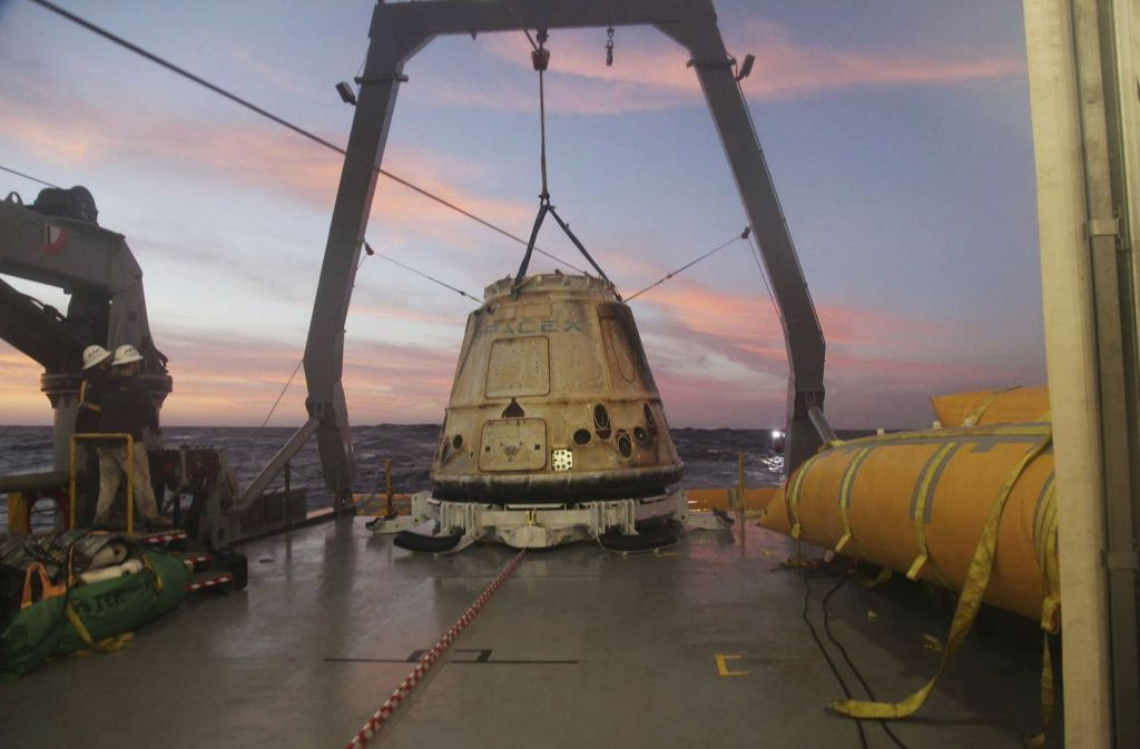 """Das """"Dragon""""-Raumschiff des Unternehmens SpaceX Foto: SpaceX"""