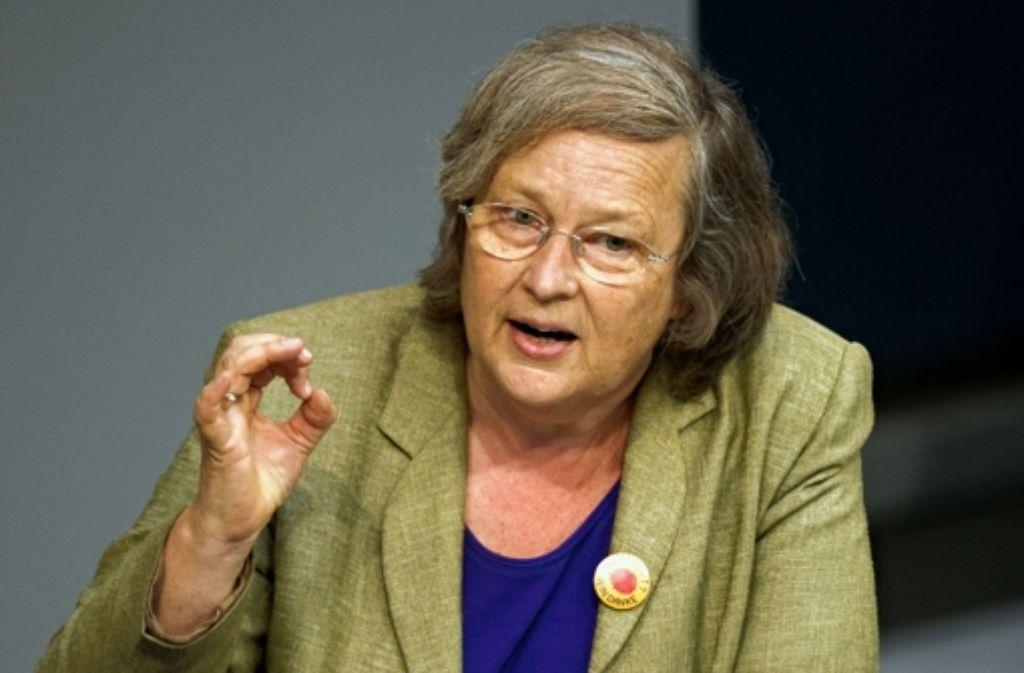 Bärbel Höhne (Grüne) saß mit Peer Steinbrück schon in der Regierung. Foto: dapd