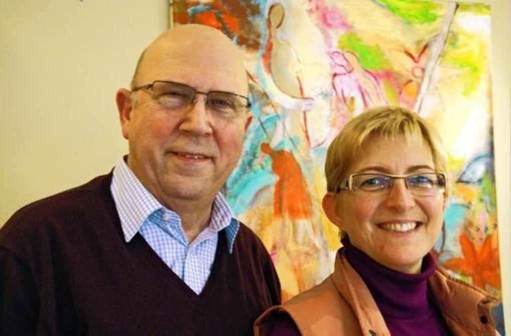 Der Vorsitzende des Tanzsportverbandes Baden-Württemberg, Wilfried Scheible, und die Pressesprecherin Petra Dres. Foto: Gabriele Metsker