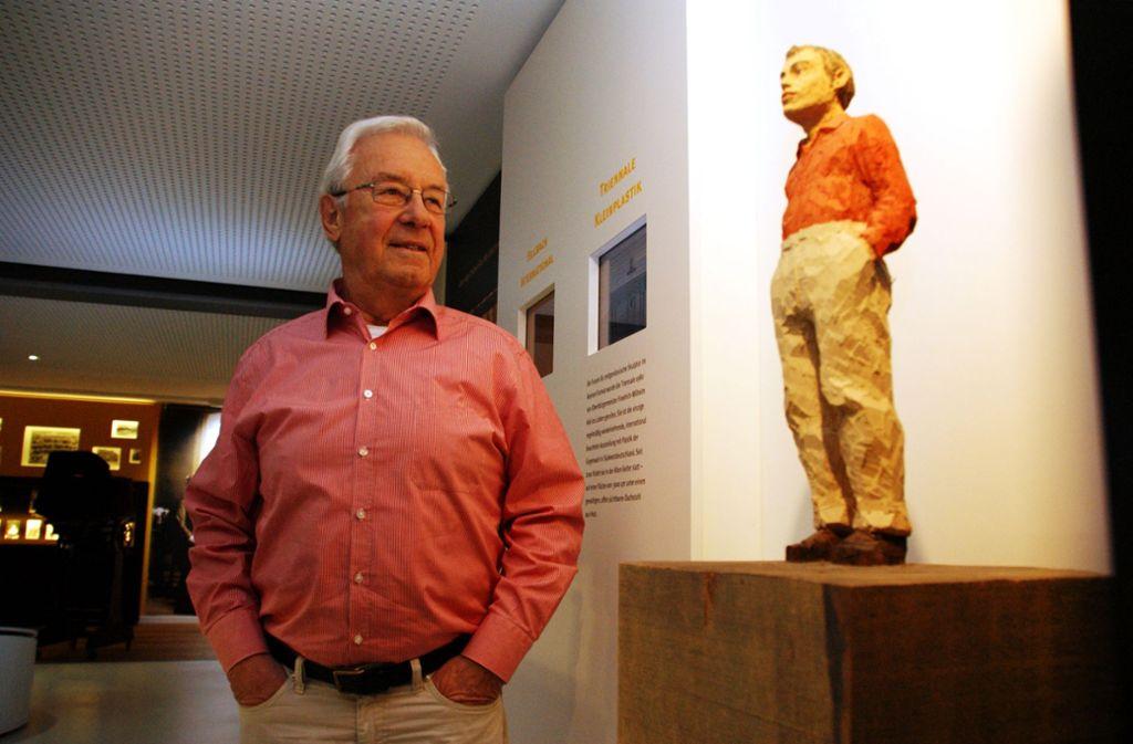 Friedrich-Wilhelm Kiel und sein 2014 entstandenes Abbild. Foto: Sascha Sauer
