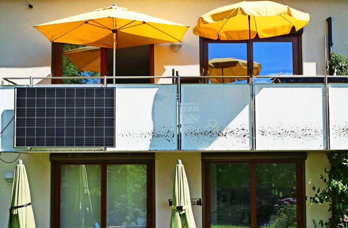 Die Solaranlage von Ulrich Schmidt aus Stuttgart-Schönberg: Der Klimaaktivist hat vergangene Woche Fakten geschaffen. Foto: privat