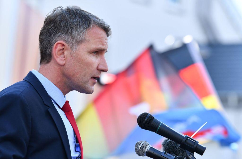 Björn Höcke auf dem Friedrichsplatz in Bruchsal. Foto: dpa
