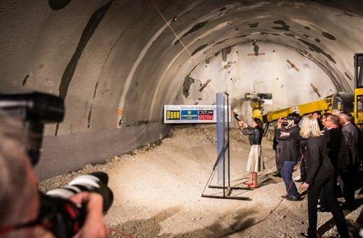 Tunnelfeier in schwierigem Gestein