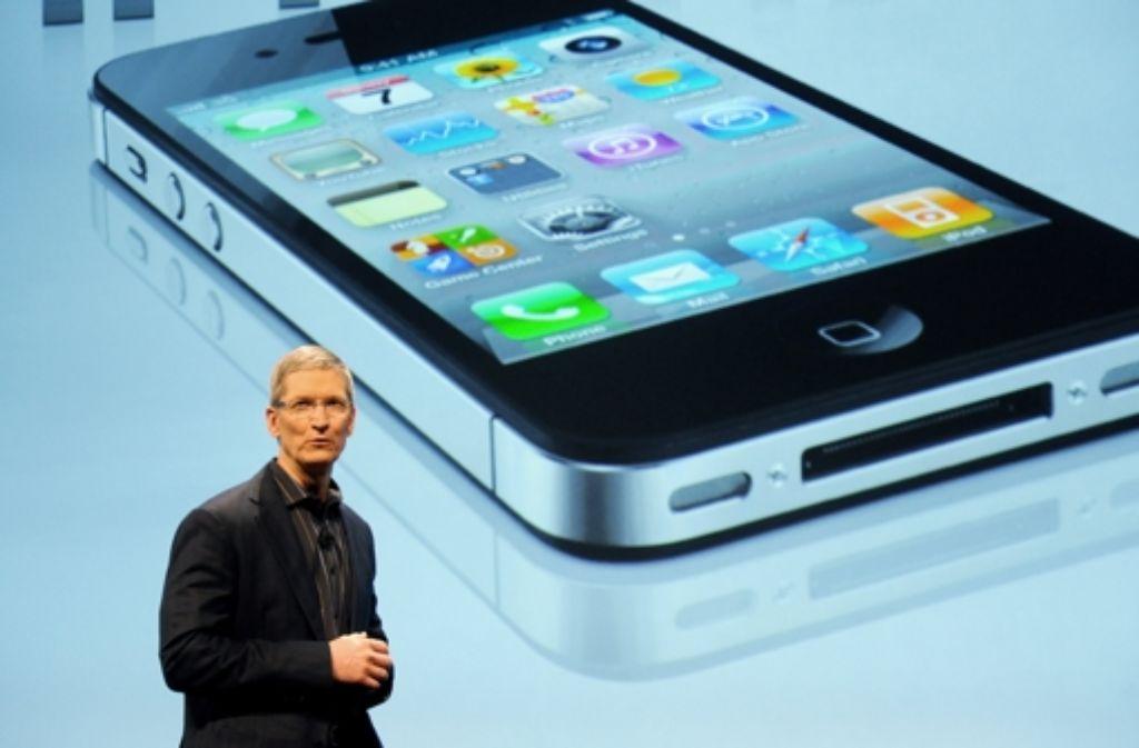Der Apple-Chef Tim Cook führt die Fehde gegen Google fort. Foto: epa