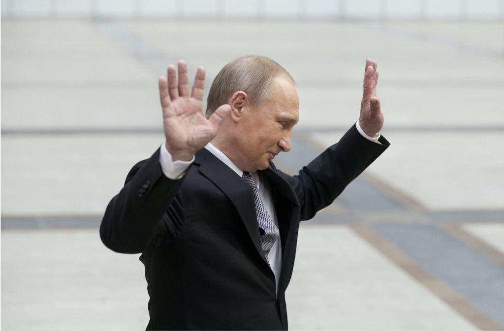 Der russische Präsident Wladimir Putin hat Fragen seiner Bürger beantwortet. Foto: AP