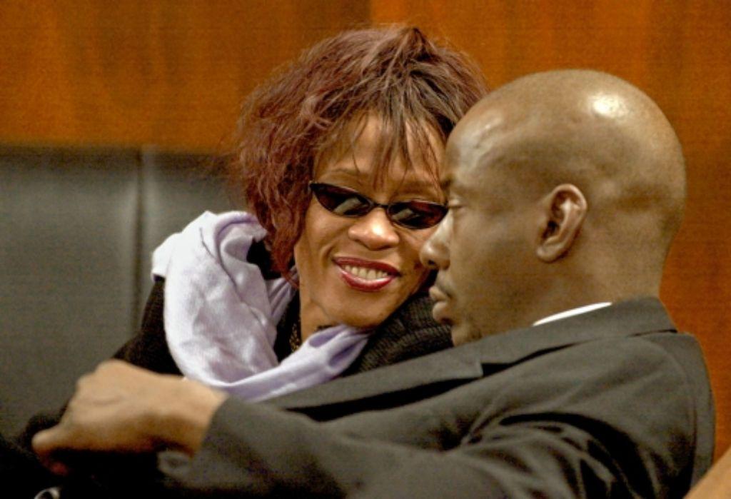 Whitney Houston und ihr Mann Bobby Brown, Foto: AP