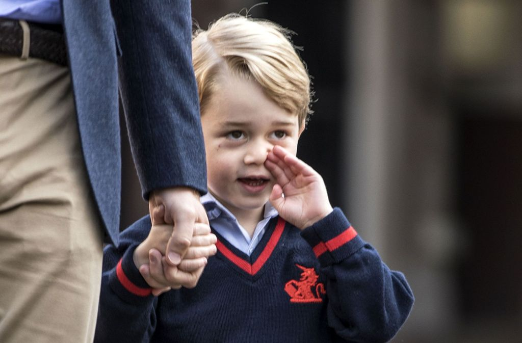 Prinz George bei der Einschulung – Infos über seine Schule soll ein mutmaßlicher IS-Anhänger verbreitet haben. Foto: PA Wire