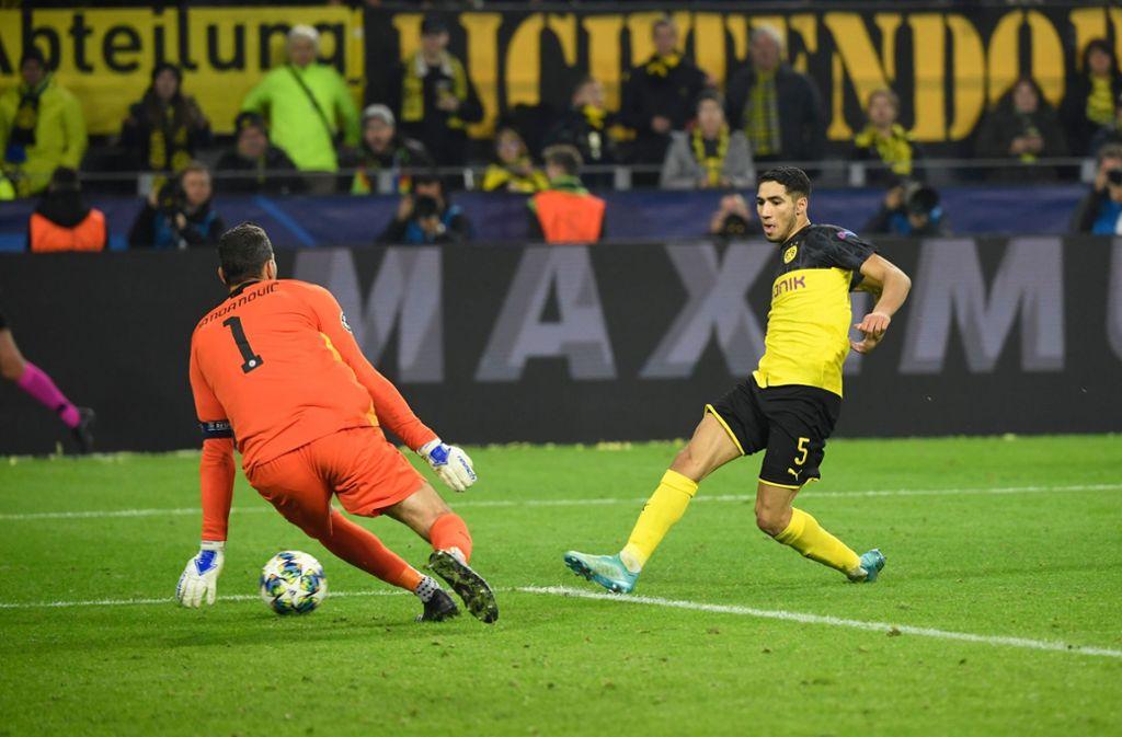 Achraf Hakimi erzielte gegen Inter Mailand zwei Tore. Foto: AFP/INA FASSBENDER
