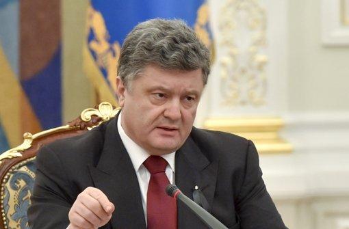 Petro Poroschenko warnt vor russischem Einmarsch