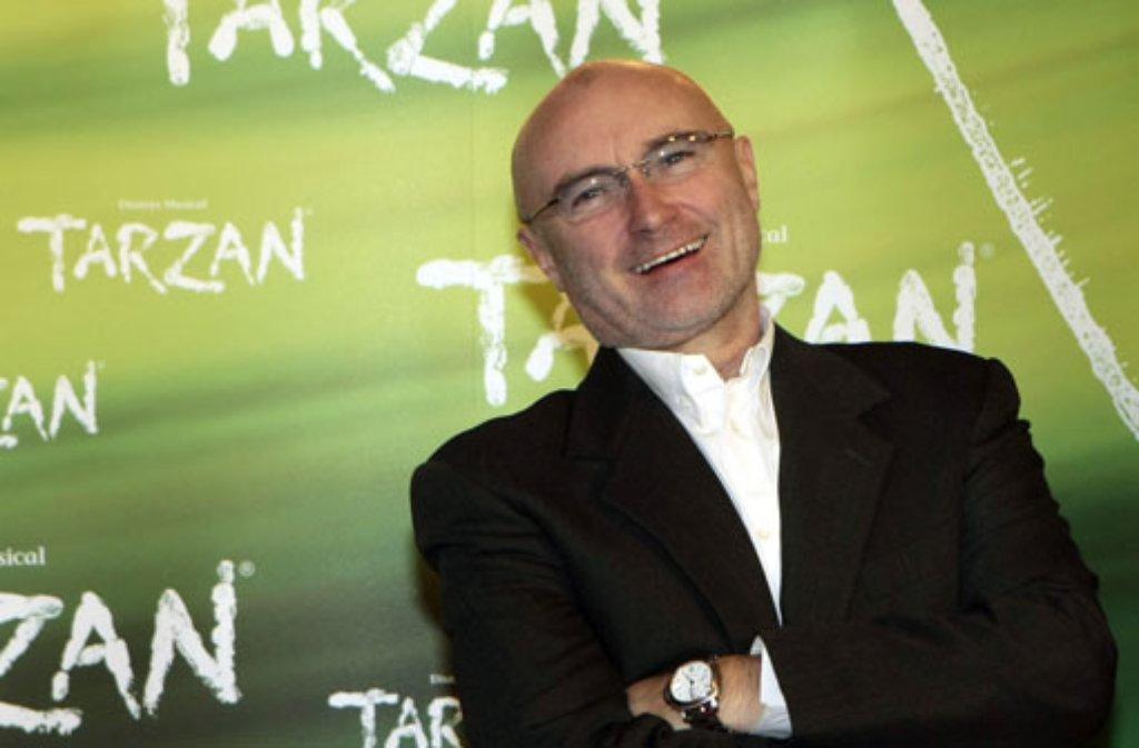 Popstar Phil Collins ist nicht der einzige, der bei der Tarzan-Musicalpremiere in Stuttgart auf der Gästeliste steht - wer sich noch angekündigt hat, erfahren Sie in unserer Bildergalerie! Foto: dpa