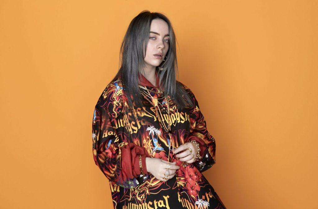 Düster eingefärbte Schlaflieder nicht nur für ein junges Publikum: Billie Eilish Foto: Kenneth Cappello/Interscope