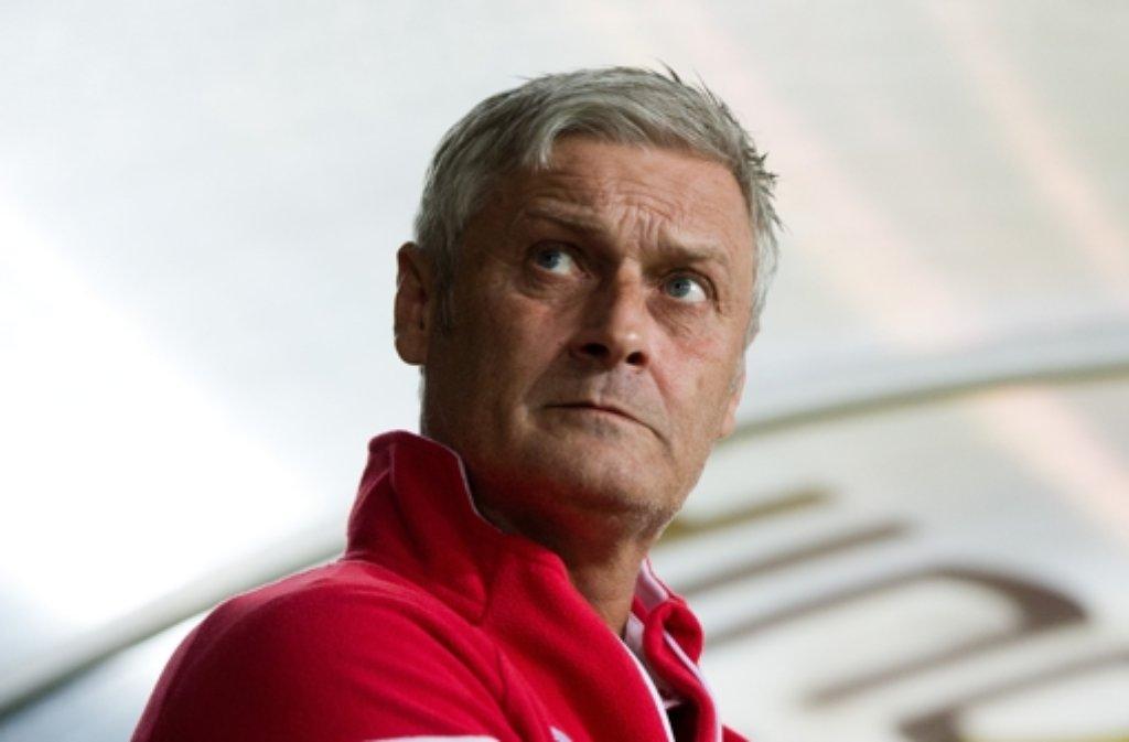 Ich bin ja schon länger dabei, da fällt mir teilweise auch nichts mehr ein. Stuttgarts Chefcoach Armin Veh zu den Fehlern seiner Profis beim 2:3 bei Hertha BSC. Foto: dpa