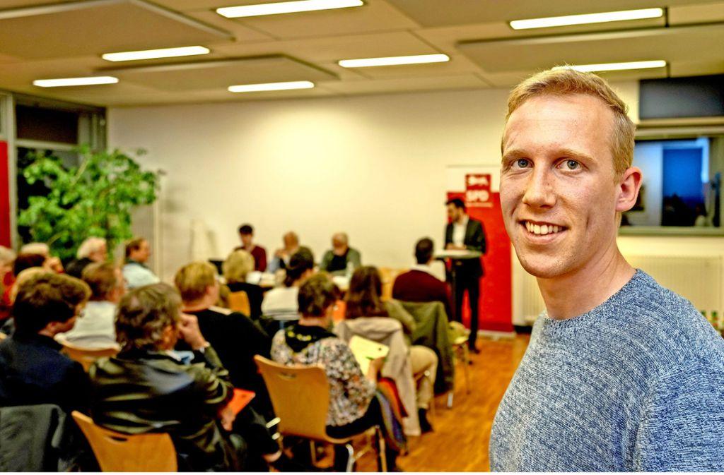 Jan Hambach hat es geschafft,  dass sich den Genossen vor allem wieder Jüngere angeschlossen haben. Foto: factum/Weise