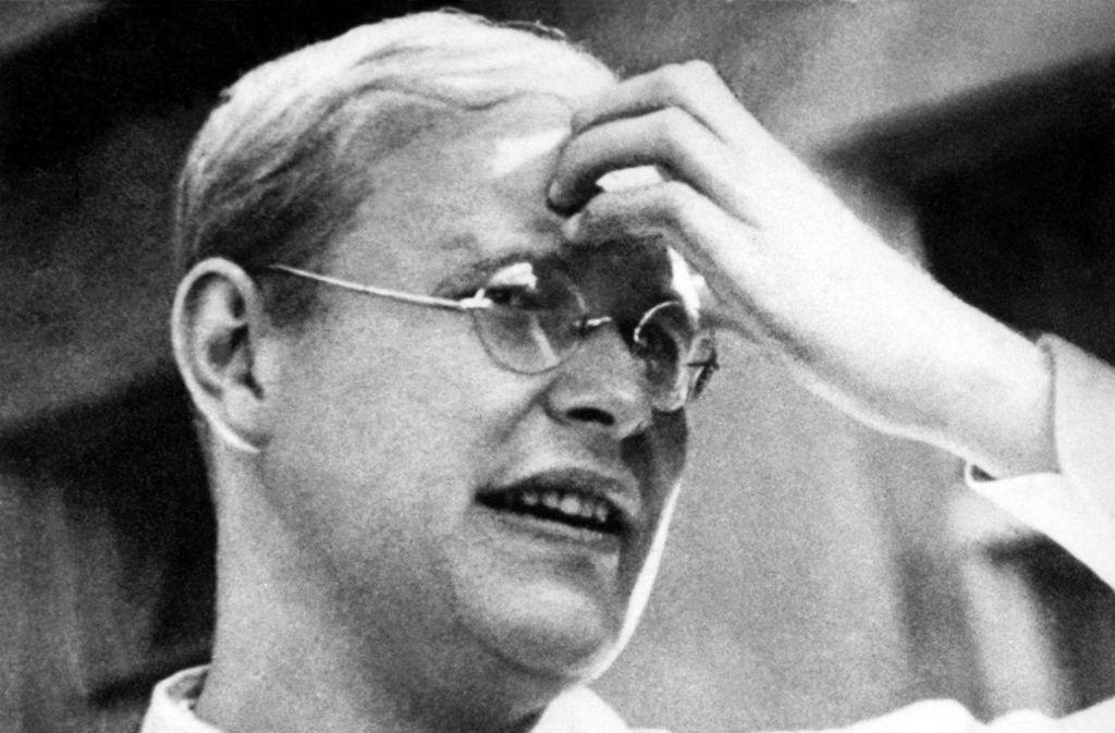 """""""Das ist das Ende - für mich der Beginn des Lebens"""", sagte der Theologe Dietrich Bonhoeffer einem britischen Mitgefangenen zum Abschied. Foto: dpa"""