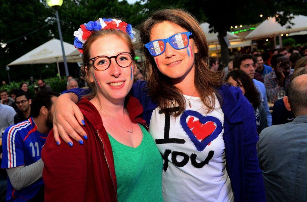 In unserer Bildergalerie zeigen wir Ihnen, wie die französischen Fans in Stuttgart gefeiert haben. Foto: 7aktuell.de/