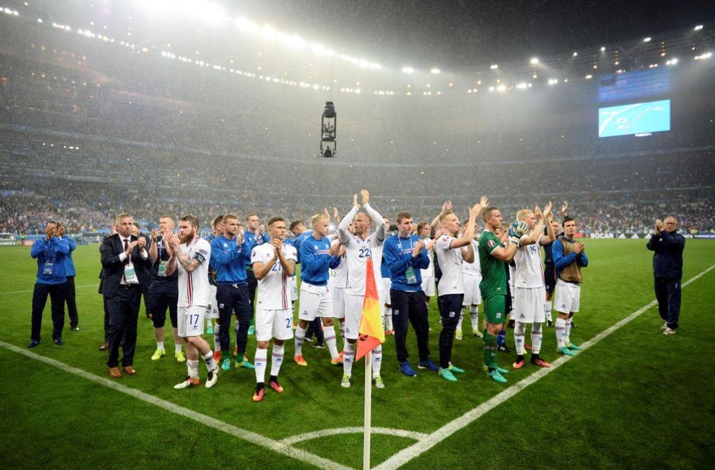 Island verabschiedet sich von der Fußball-EM in Frankreich. Foto: AFP