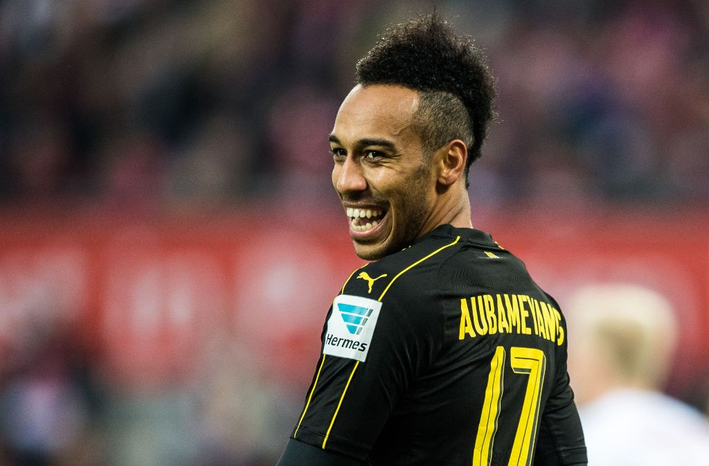 Dortmunds Pierre-Emerick Aubameyang besitzt Chancen auf den Goldenen Schuh. Foto: Bongarts