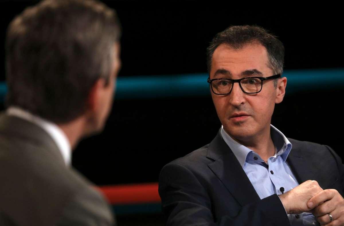 Cem Özdemir ließ bei Markus Lanz kein gutes Haar an der AfD. Foto: ZDF und Cornelia Lehmann/Cornelia Lehmann