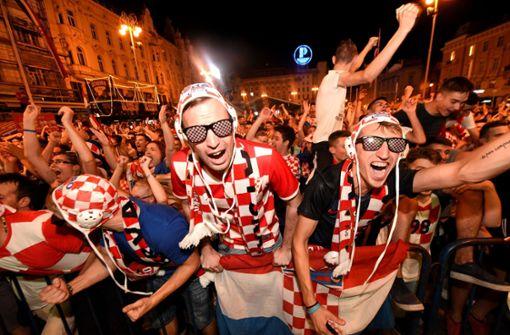 So verrückt feiern die Kroaten den Erfolg ihres Teams