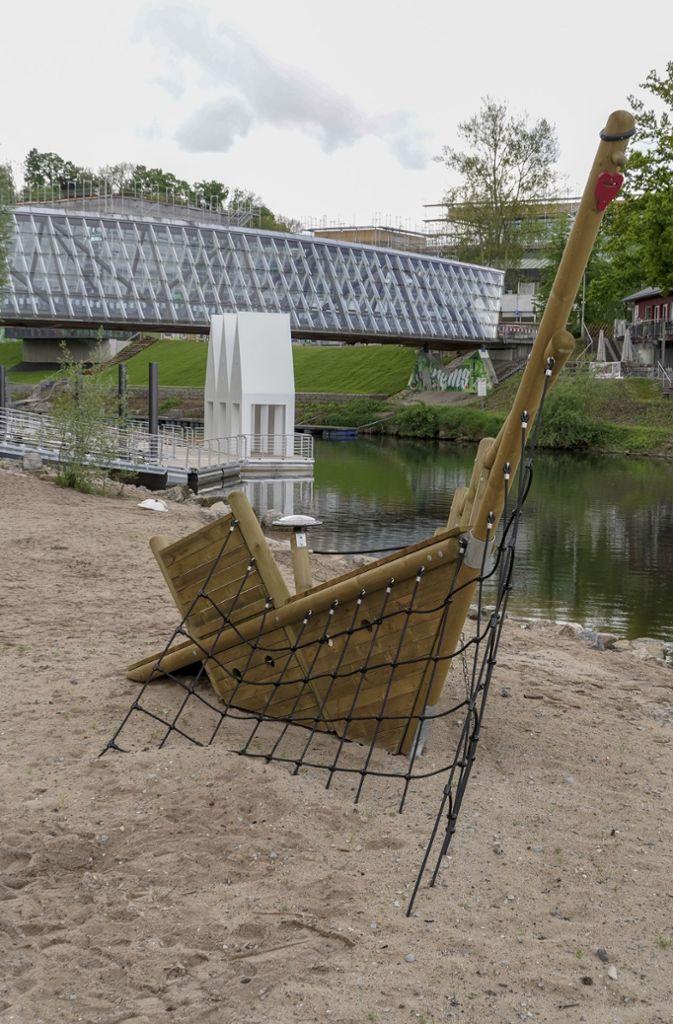 Der Neckarstrand mit Spielplatz wird bei der Highlightwoche in Remseck zum Hauptveranstaltungsort. Foto: factum/Bach
