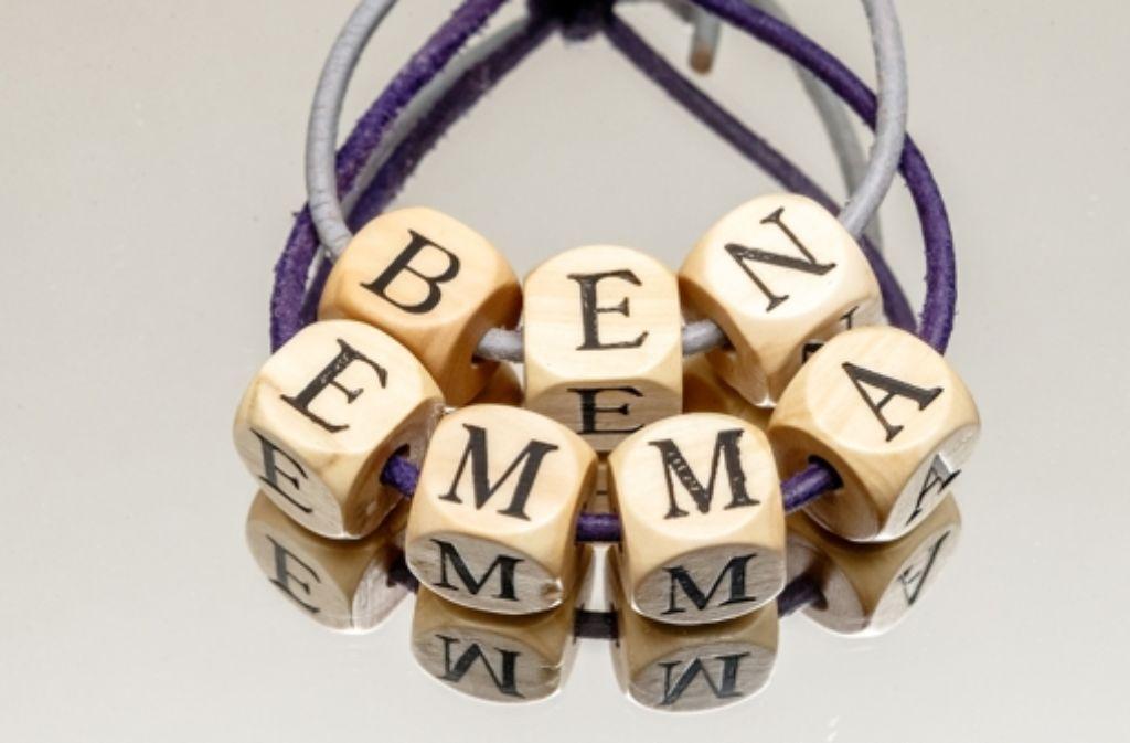 Ben und Emma sind die beliebtesten Vornamen in Deutschland. Foto: dpa