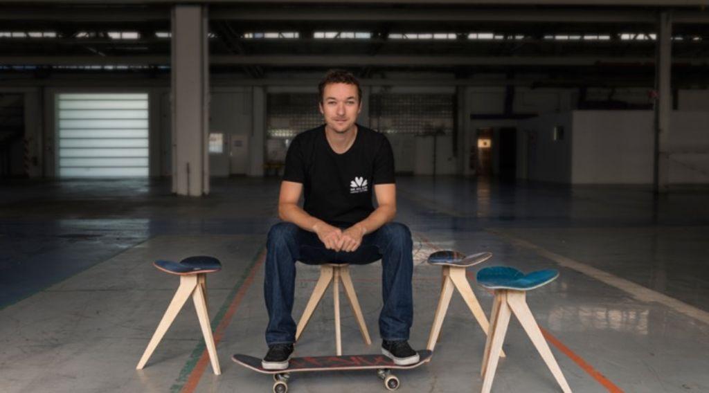 Florian Bürkles Inspiration kommt vom Skateboarden und von der Musik. Foto: privat