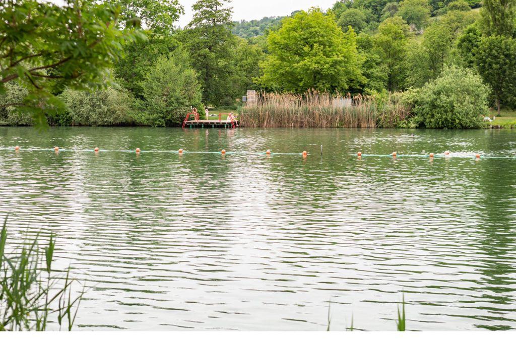Der Plüderhausener See ist bereits seit Anfang Mai wieder für Besucher geöffnet. Foto: imago images