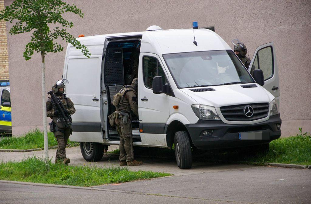 Am Mittwochmorgen hat es einen SEK-Einsatz in Bad Cannstatt gegeben. Foto: 7aktuell.de/Andreas Werner