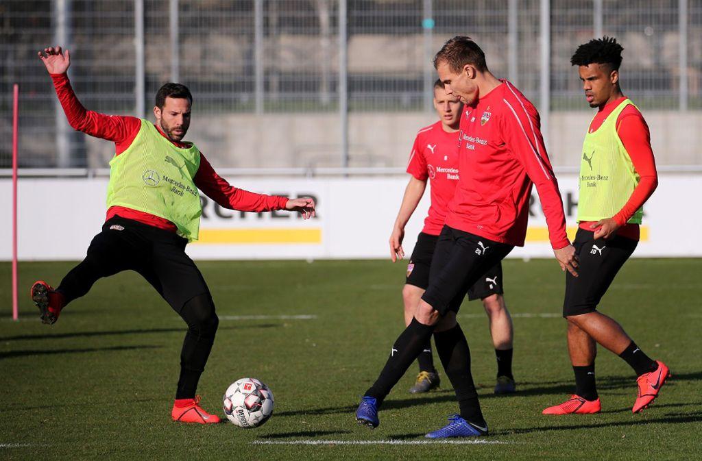 Gonzalo Castro und Holger Badstuber stehen  am Samstag beim Spiel in Osnabrück auf dem Platz. (Archivbild) Foto: Pressefoto Baumann/Julia Rahn