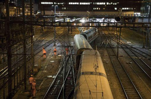 ICE entgleist im Bahnhof von Basel