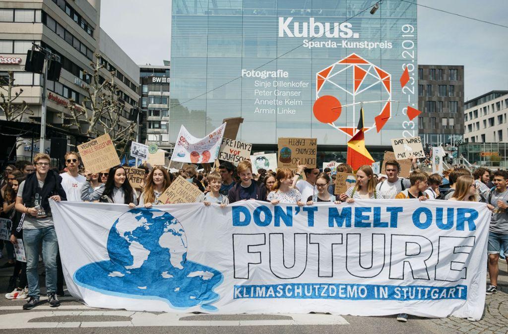 5000 Teilnehmer zählte eine der Klimademos im Mai in Stuttgart, in Freiburg waren es mitunter sogar 10000. Foto: Leif Piechowski/LICHTGUT/Leif Piechowski