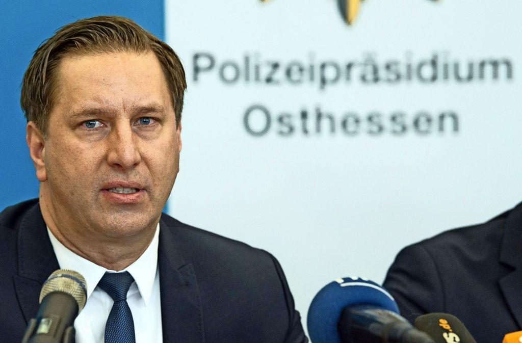 """""""Der  Festgenommene hat andauernd gequatscht, bestreitet aber die Tat"""", berichtet Daniel Muth, der Kripochef in Fulda. Foto: dpa"""
