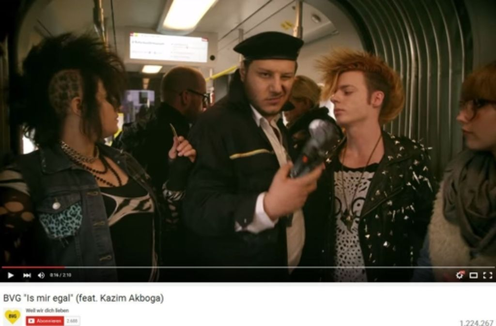 Der neue Werbespot der Berliner Verkehrsbetriebe fegt zurzeit durch die sozialen Netzwerke. Foto: Red