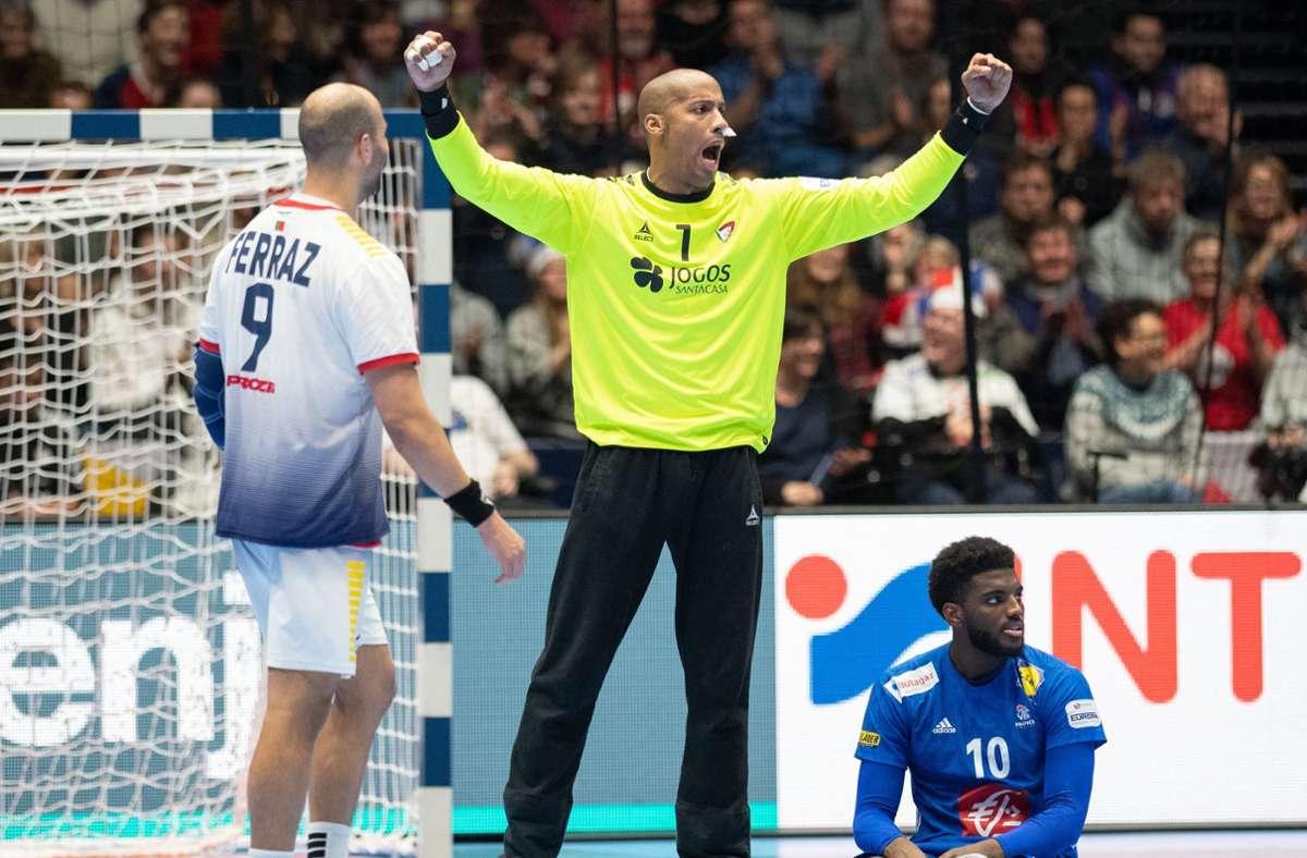 Portugals Handball-Nationaltorwart Alfredo Quintana. Foto: dpa/Robert Michael