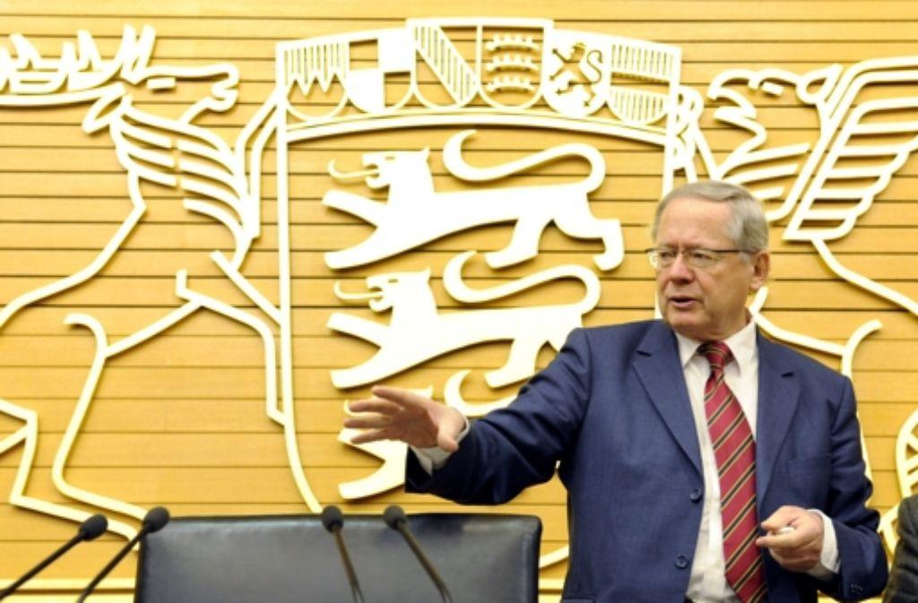 Ulrich Müller tritt als Vorsitzender des EnBW-Untersuchungsausschusses zurück. Foto: dpa