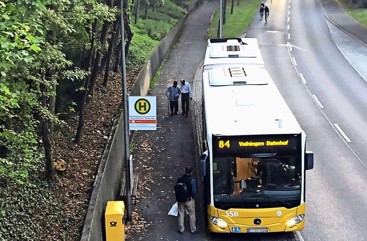 Fahrer hilft Fahrgast: ein Busstop mit Sonderservice Foto: privat/Marvin Hägele