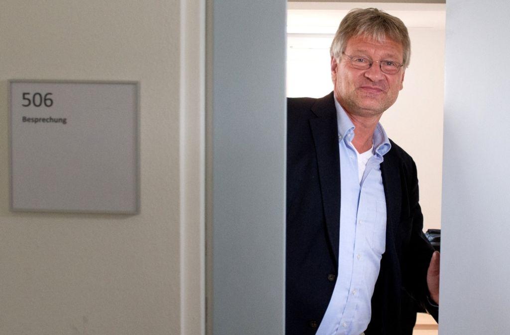 Jörg Meuthen ist als Vorsitzender einer gemeinsamen AfD-Fraktion gewählt – oder auch nicht. Die Klausursitzung der Partei fördert vor allem die Probleme zu Tage. Foto: dpa