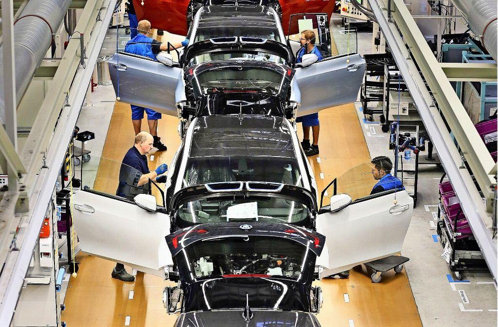 Die Produktion des Elektroautos BMW i3 zieht immer stärker an. Foto: dpa