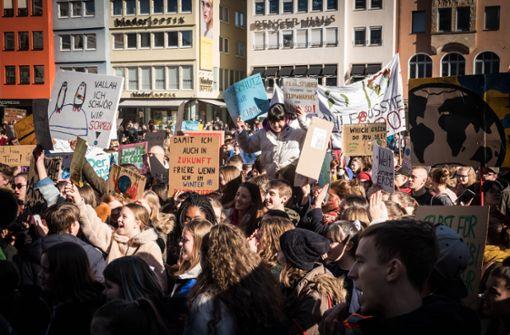 1000 Schüler demonstrieren  für Klimaschutz