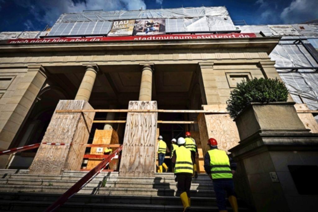 Der Umbau des Wilhelmspalais macht Fortschritte. Foto: Lichtgut/Achim Zweygarth