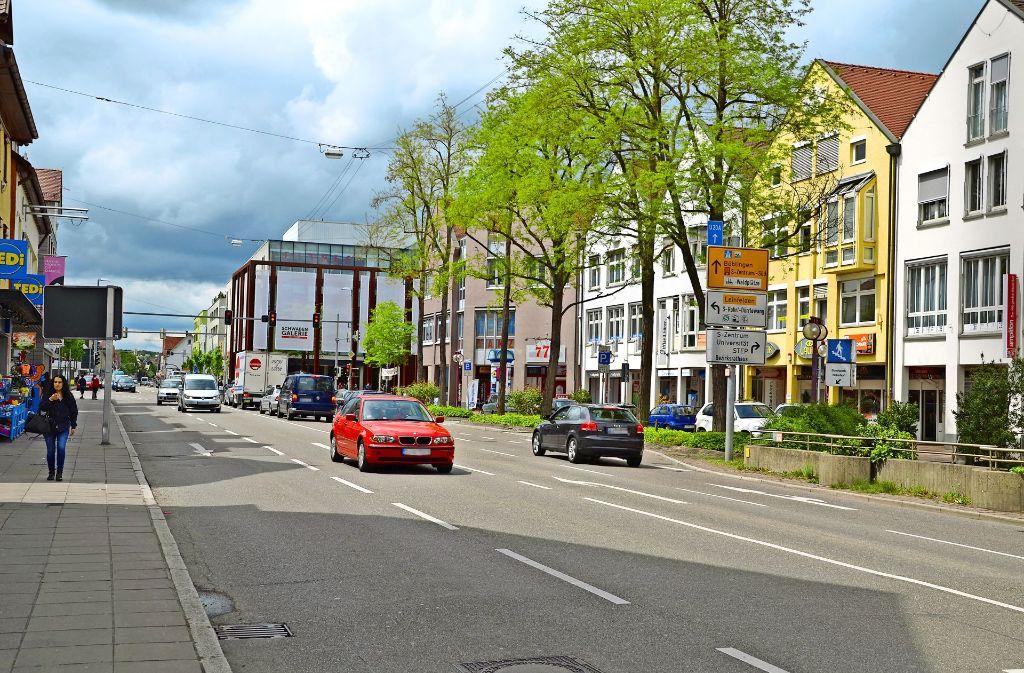Eine Umgestaltung des Vaihinger Markts und der Hauptstraße kann nach Ansicht der Stadt dazu beitragen, dem Trading-Down-Effekt entgegenzuwirken. Foto: Sandra Hintermayr