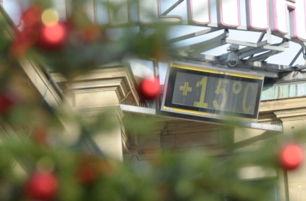 An Heiligabend und am ersten Weihnachtsfeiertag gab es auch in Stuttgart frühlingshafte Temperaturen. Foto: dpa