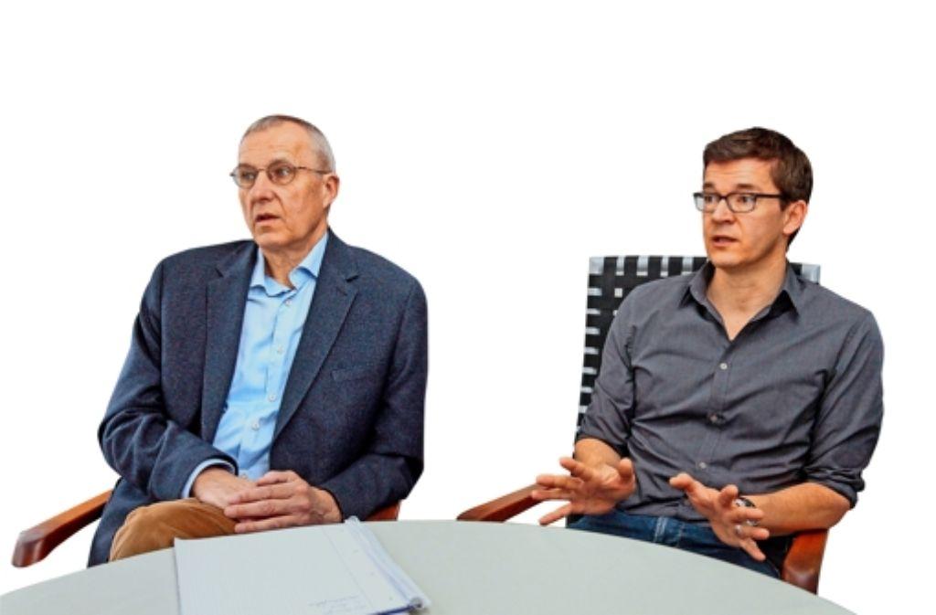Bernd Hommel (links)  und  Werner Schubert von der Interessengemeinschaft Foto: factum