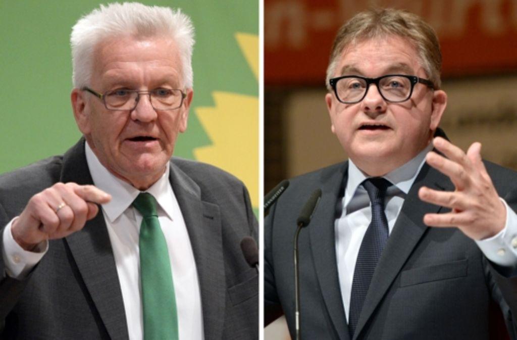 Der Amtsinhaber und sein Herausforderer: Winfried Kretschmann und Guido Wolf. Foto: dpa