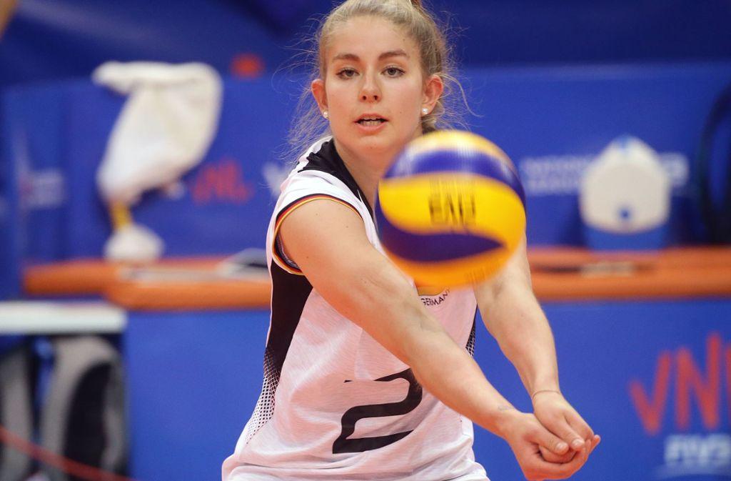 Pia Kästner von Allianz MTV Stuttgart fehlt in den kommenden Wochen verletzt. Foto: Baumann